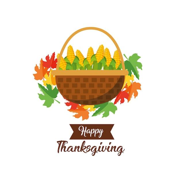 Happy thanksgiving day design Premium Vector