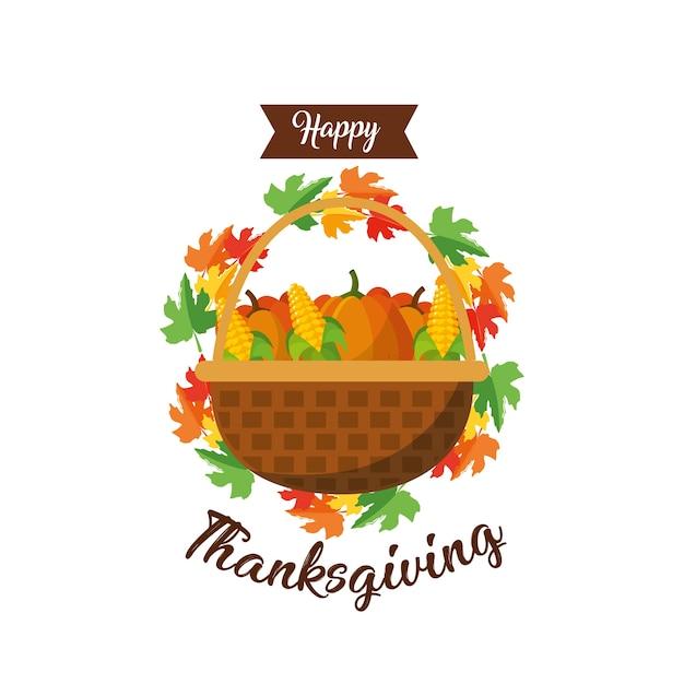 Happy thanksgiving day Premium Vector