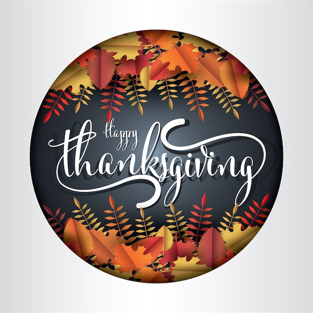 Happy thanksgiving day. Premium Vector