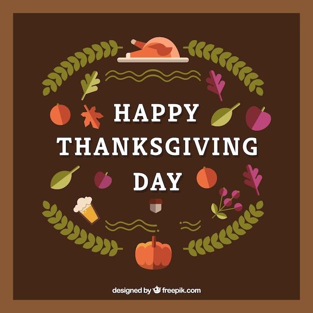 Happy thanksgiving retro background