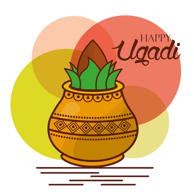 Happy ugadi greeting card celebration festival vector premium download happy ugadi greeting card celebration festival premium vector m4hsunfo