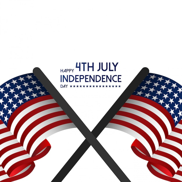 Happy usa independence day 4 th july. Free Vector