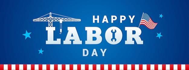 Happy usa labor day banner vector Premium Vector