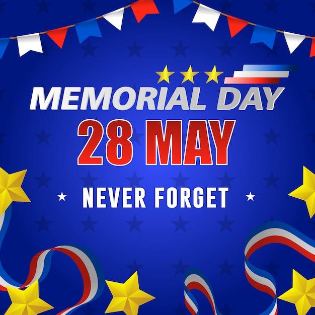 幸せなアメリカ記念日、5月28日。 Premiumベクター