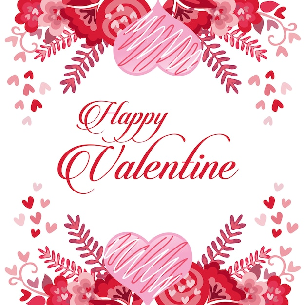 Happy Valentine Card With Loves Premium Vector   Happy Valentines Cards