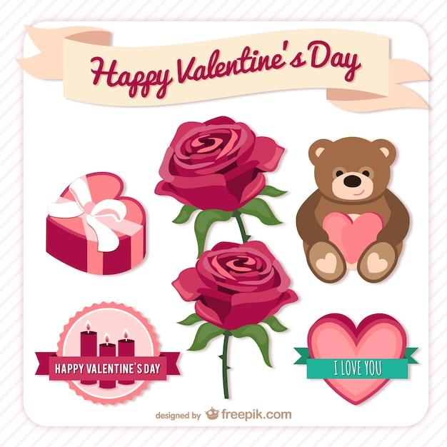 Happy Valentine Day elements