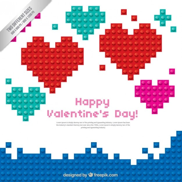 Happy valentine day hearts pack