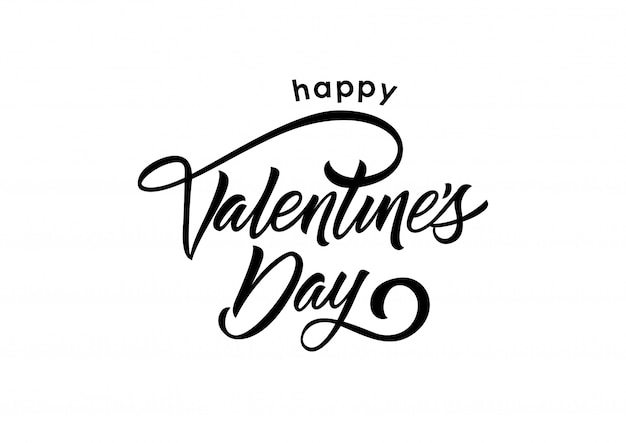 Happy Valentine Day Lettering Vector Free Download