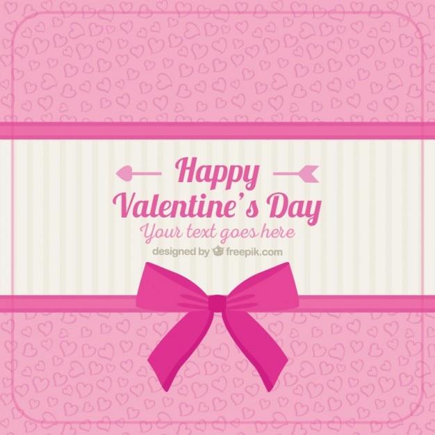 Happy Valentine Day Pink Background Premium Vector