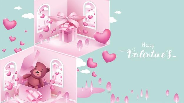 Happy valentine's background Premium Vector