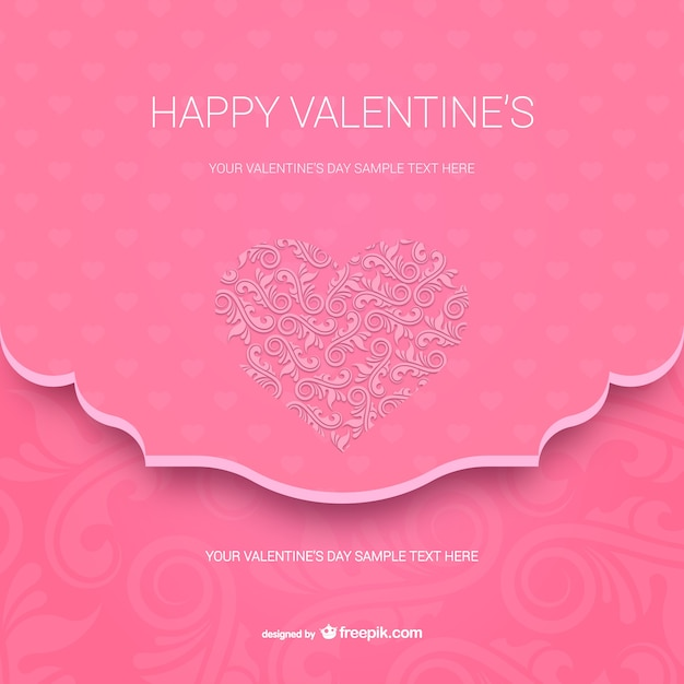 Happy Valentines Card Template Vector