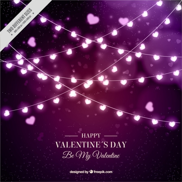 Light Bulb Wallpaper: Happy Valentine's Day Background Of Light Bulbs With Heart