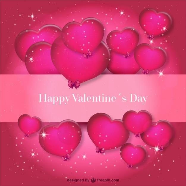 Happy Valentine\'s Day background Vector | Free Download