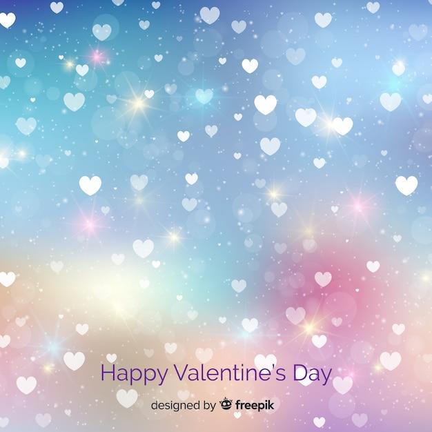 Happy valentine's day background Free Vector