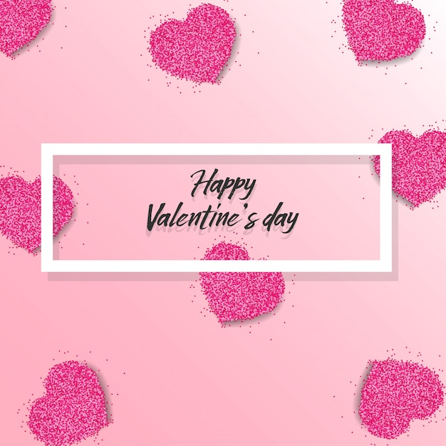 Happy valentine's day background Premium Vector