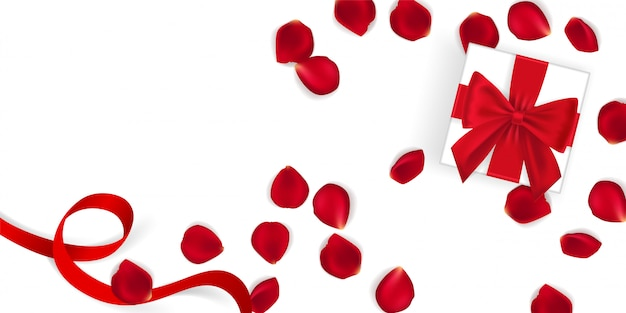 Happy valentine's day banner template. Premium Vector