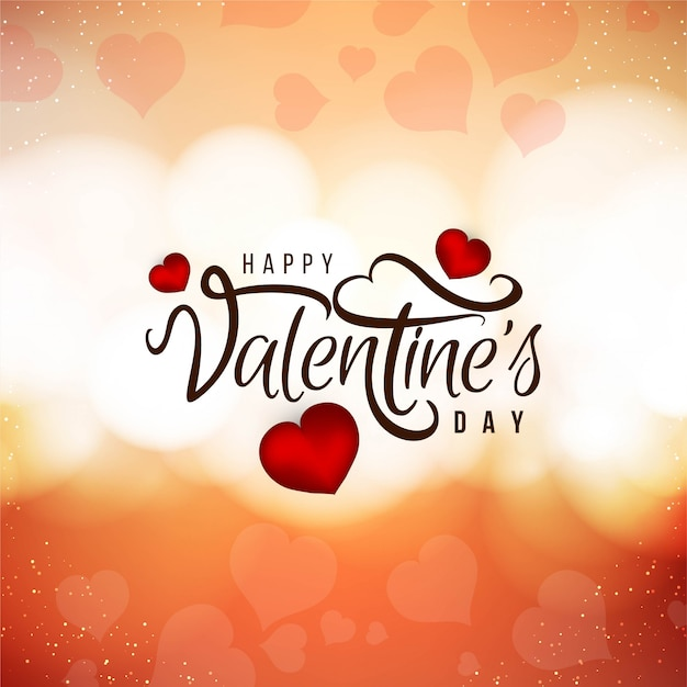 Happy valentine's day beautiful love background Free Vector