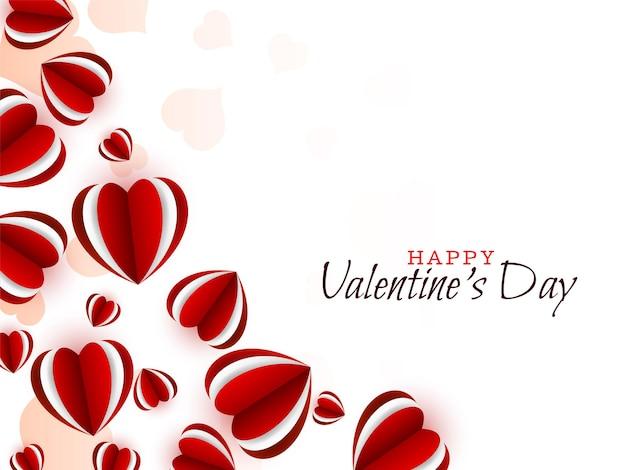 Buon san valentino bellissimo sfondo rosso cuori Vettore gratuito