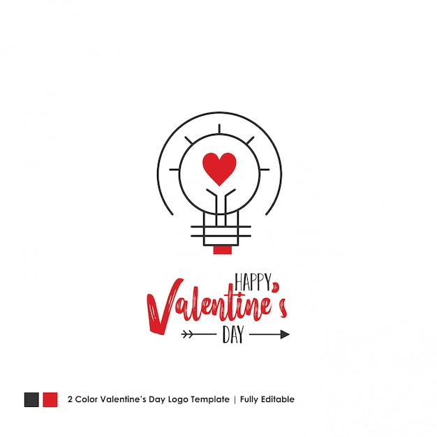 Happy valentine's day card. vector lettering background Free Vector