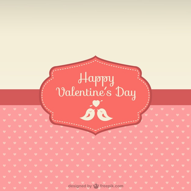 Happy Valentine's Day card Vector | Free Download