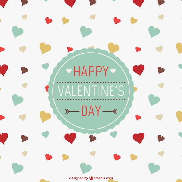 Happy valentine's day card Free Vector