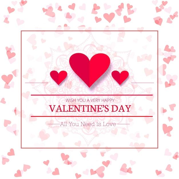 Happy valentine\'s day creative sale background illustration Vector ...