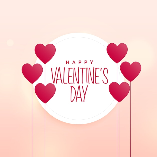 happy valentine s day cute heart background vector premium download