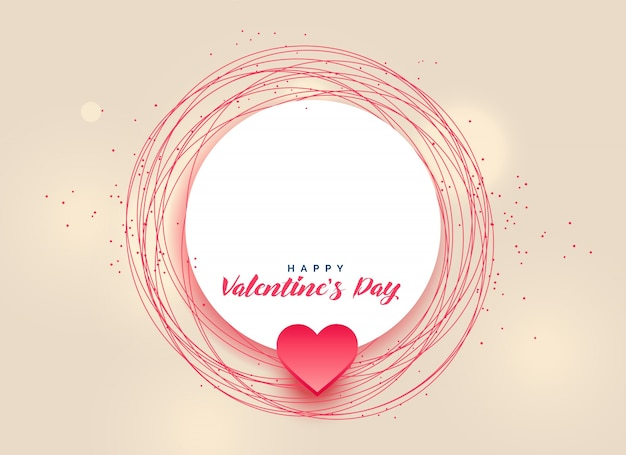 happy valentine's day design with text space Free Vector