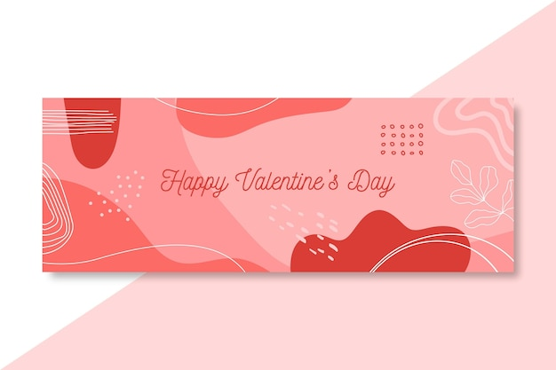 Happy valentine's day facebook cover Free Vector