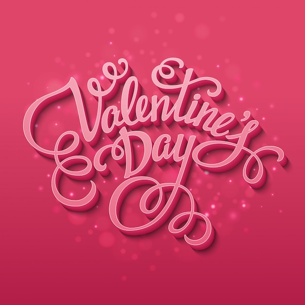 Happy valentine's day greeting card Premium Vector