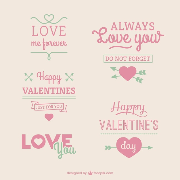 Happy Valentine's Day greetings Free Vector