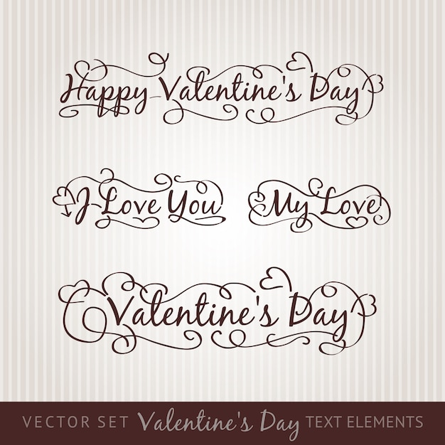 Happy Valentine S Day Hand Lettering Vector Free Download