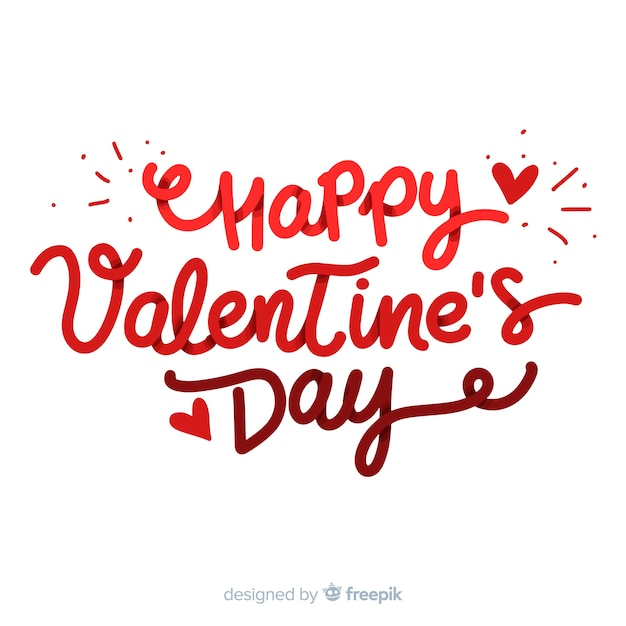 Happy Valentine S Day Lettering Vector Free Download
