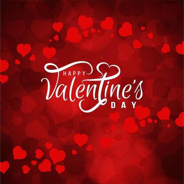 Red Hearts Free Vector Background