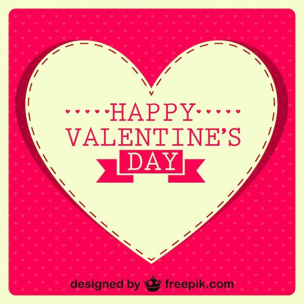 Happy Valentine S Day Retro Card Design Vector Free Download