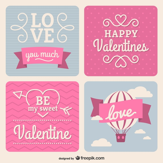 Happy Valentine'S Day Stickers Vector | Free Download