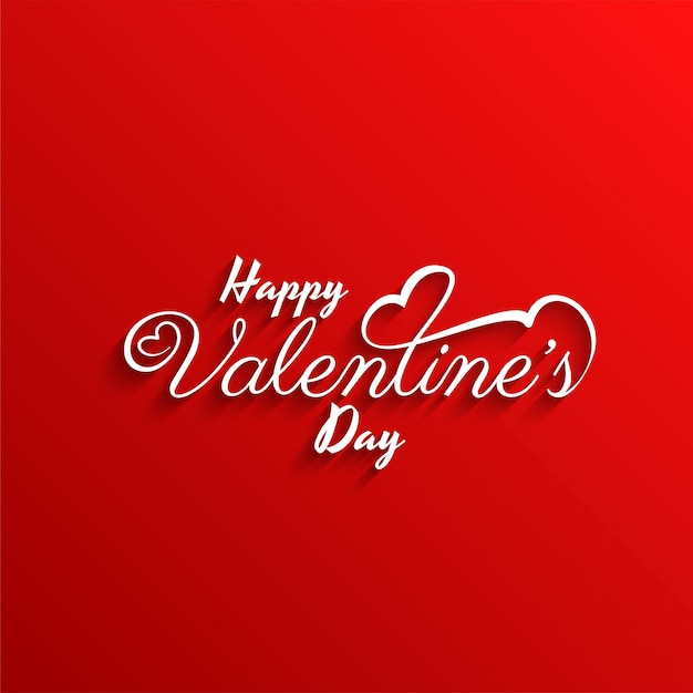Happy valentine's day stylish red background Free Vector