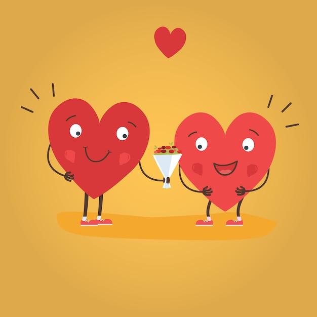 Happy valentine's day vector card Premium Vector