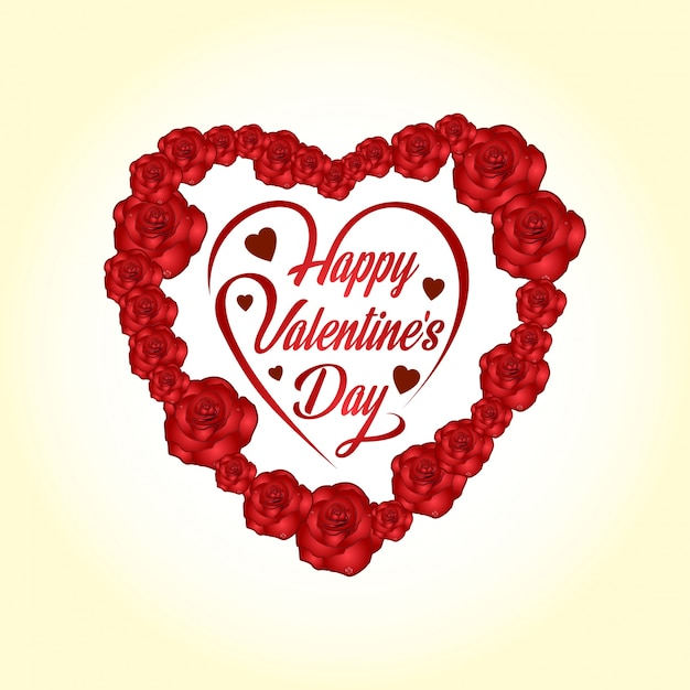 Happy Valentine's day with light background vector and ...