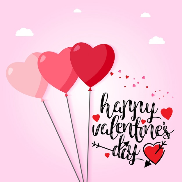 Happy Valentine\u0027s Day With Light Pink Background Vector | Free .