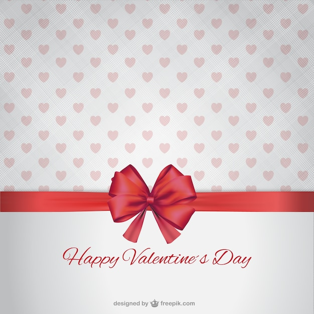 Happy Valentine S Day With Ribbon Vector Free Download
