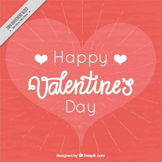 Happy valentine\'s day with romantic background Vector | Free Download
