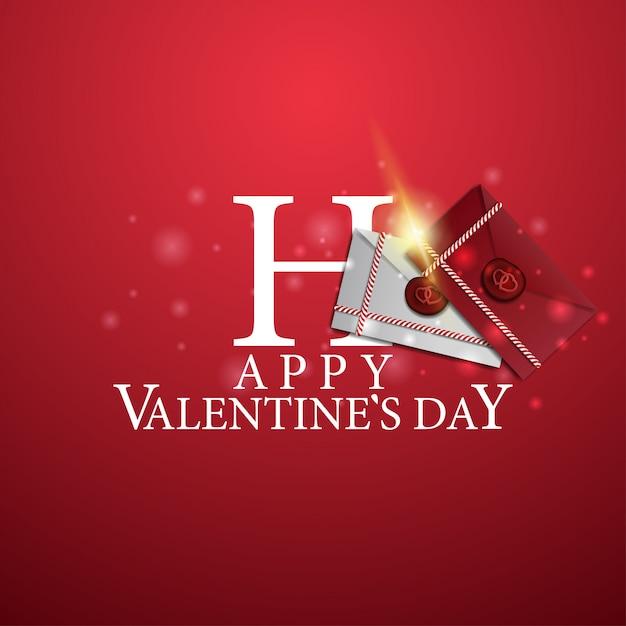 Happy valentine's day - логотип с любовными буквами Premium векторы