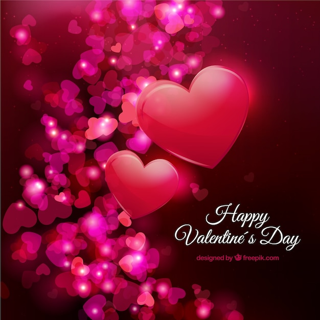 Happy Valentine\'s with hearts