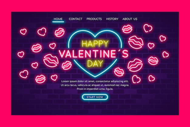Happy valentines day artistic concept Free Vector