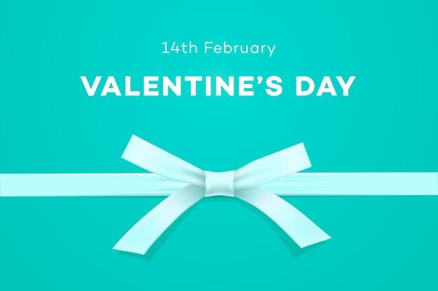 Happy valentines day banner sweet tiffany blue background Premium Vector