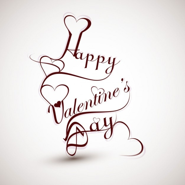 Happy valentines day calligraphy vector free download