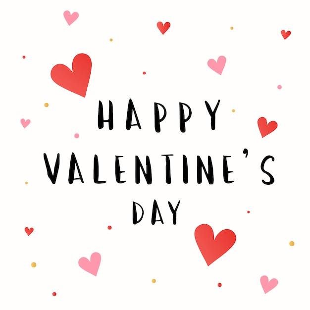 Happy valentines day card vector Free Vector