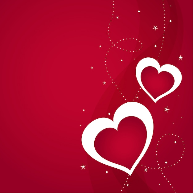 Happy valentines day greeting background Free Vector