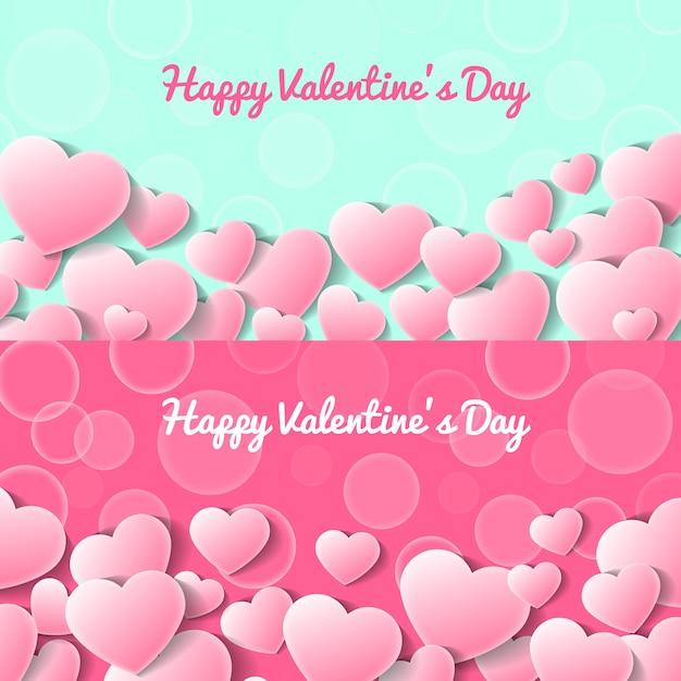 Happy valentines day greeting card templates Premium Vector